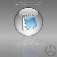 Silver Aqua Notepad Icon by rontz