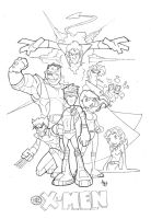 X-Men : Rough Pencils by tyrannus