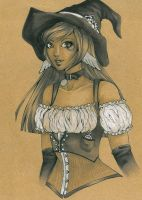 Victoriana the Cog, steampunk Witch by Forunth