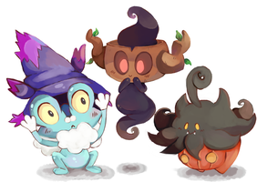 Pokemon - Happy Halloweeny by MindlessFrappe