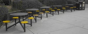 Yellow-Seated Picnic Tables by RussianGentleman