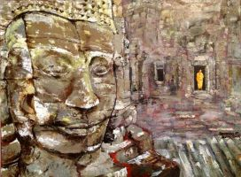 Buddha and Monk by j0rosa