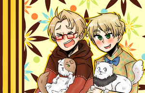 Alfred Arthur and Cats by Xxnarutogrl6xX