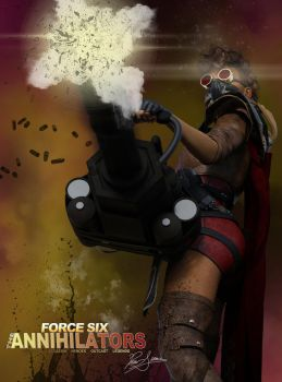 Force Six Episode 04 Guns and Glaives Jackie-5 by G-Mantis