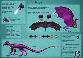 Avalyn reference sheet - English by Kuro-Hiryuu