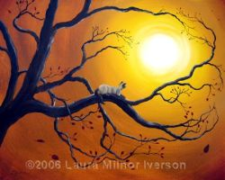 Siamese Cat in Golden Splendor by zenbreeze