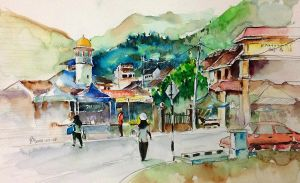 my hometown landscape by young920