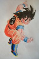 I'm Ready For A Battle! Son Goku -colored- by SakakiTheMastermind