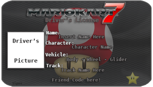 OUTDATED Mario Kart 7 License Template OUTDATED by lordvipes