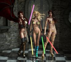 Jenny Poussiny Lightsaber Evinessa Elf Trio 03 by Evinessa