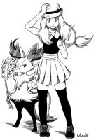 Serena and Braixen by Rohanite