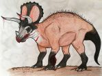 K-T Project: Triceratops Villain by Iowasi