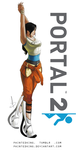 Chell - Portal 2 by PaintedKing