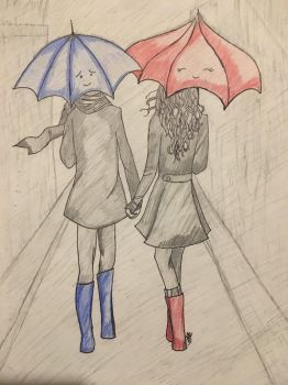 Love is Holding Hands Even in Rain by khspot