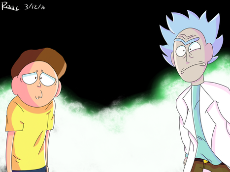 Rick and Morty a hundred years! (Fanart) by RoderickDoesArt16