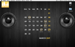 Desktop Calender MAC by elpanco