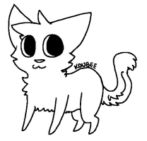 Free chibi cat lineart by Bambies