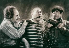 The Three Stooges by AngelaBermudez