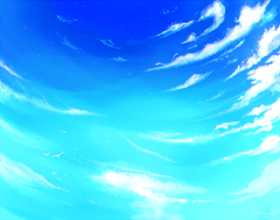 Painting Clouds Practice by DivineImmortality