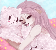 Cofi and her lamb by Piannen