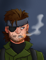 Solid Snake by sweets-nokami