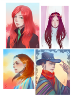 portraits by KanzakiVS