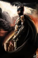 The Dark Knight Has Risen by NestorTomaselliArt