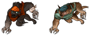 Werewolf Adoptables - OPEN by Karijn-s-Basement