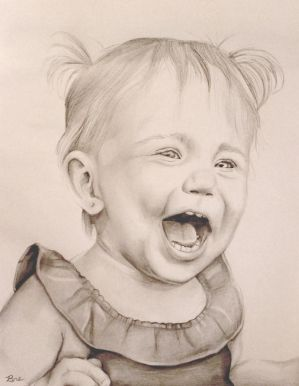Little Girl Laughing by Marybriannemckay