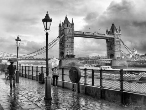 They met in rainy London by Pajunen