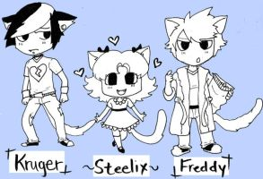 Persona Kitties by michielynn