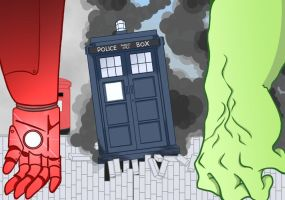 Doctor Who and the Avengers by KirstyEmma