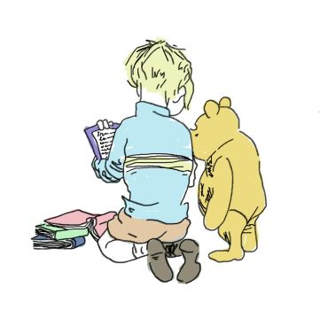Pooh and Christopher Robin by IndianaFan