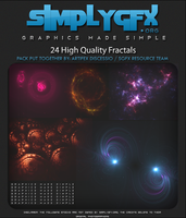 Simply Graphics: 24 Exclusive Fractals by SimplyGFX