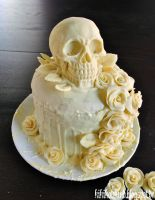 Our skull-wedding cake by dwellicious
