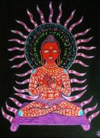 Painted Buddha by Art-of-the-Shaman