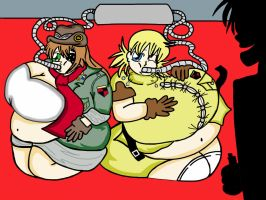 Seras and Pip get inflated by Chibiana26