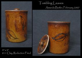 Tumbling Leaves Jar by DrunkenFairy