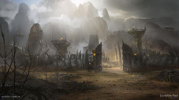 Middle-Earth: Shadow of Mordor - Concept Design by ScribblePadStudios