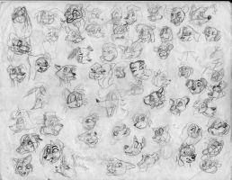 100 heads and poses P22 by Redfoxbennaton