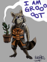Rocket and Groot by CorgiGreen