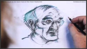 Draw An Old Man's Face In Two Point Perspective 32 by drawingcourse