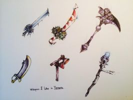 Weapons I like in Terraria by Harry7liu