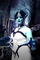 Ghost Bride Morgana - League of Legends by Licunatt