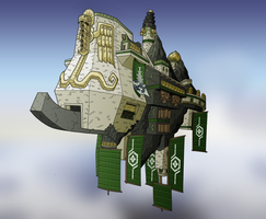 Airship - Sky Fortress by nfeyma