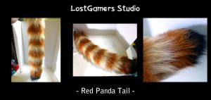 Red Panda Tail by TentacleLoveGoddess