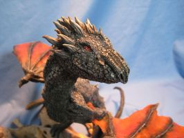 Dragon Hatchlings Resin Kit 2 as Drogon View 2 by RavendarkCreations