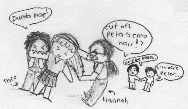 Hannah and Theo Hate Elle by picklelova