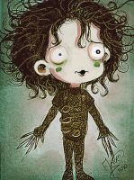 Edward scissorhands chibi by jeroenart