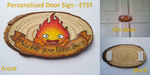 Small Wooden Door Sign by DecorumDreams